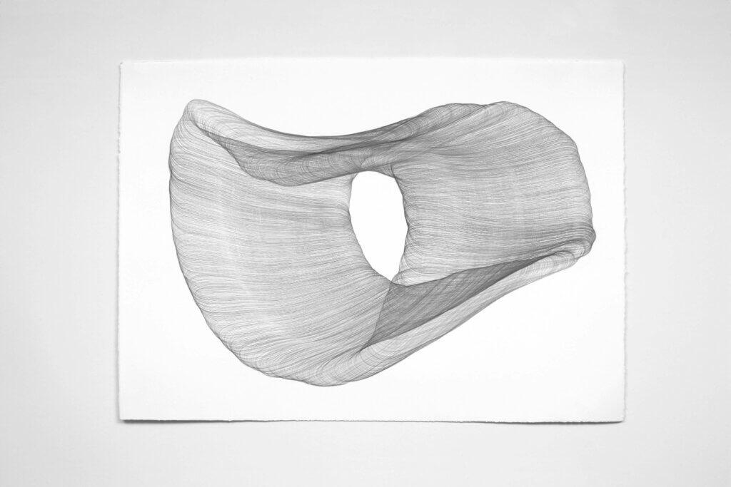 "Aus der Werkgruppe ""Wandelbar"", 2010, Bleistift auf Büttenpapier, 75.5 x 106 cm"