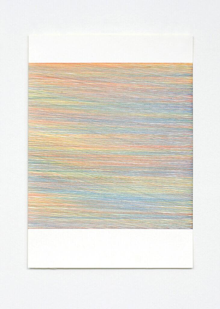 """Farbenmeer II"", 2007, Farbstift auf Papier, 7-teilig, 59.4 x 42 cm, Blatt 4"