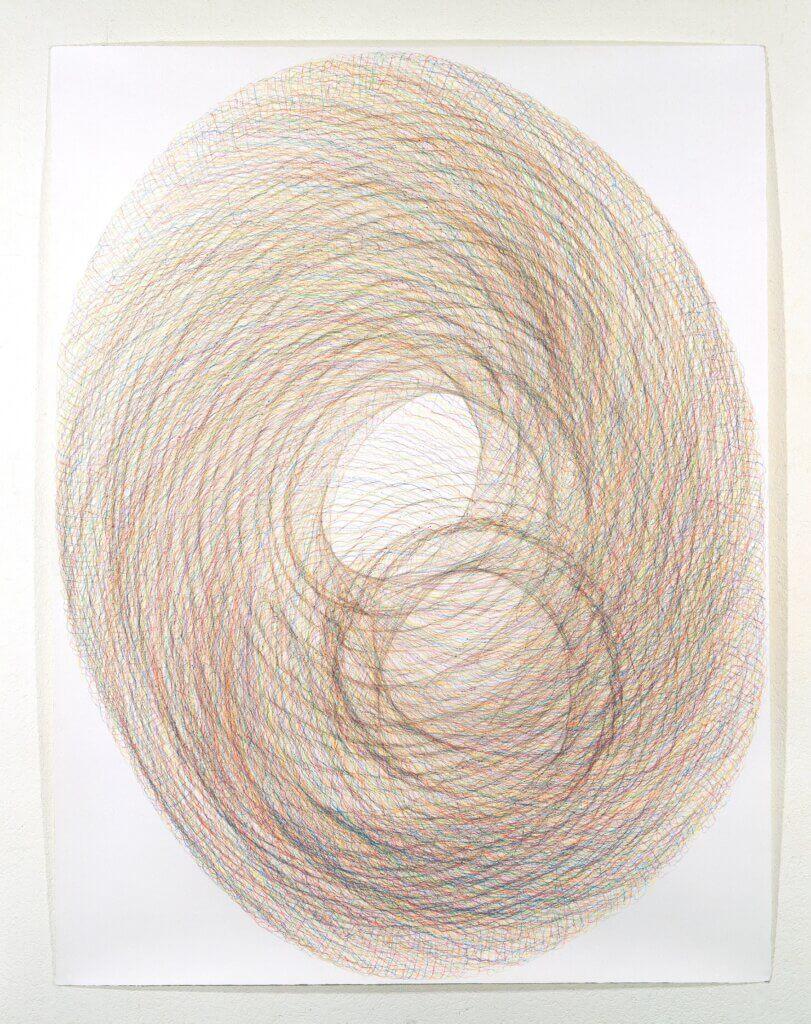 """""""Horngebilde III"""", 1994, Farbstift auf Büttenpapier, je 140 x 107 cm"""