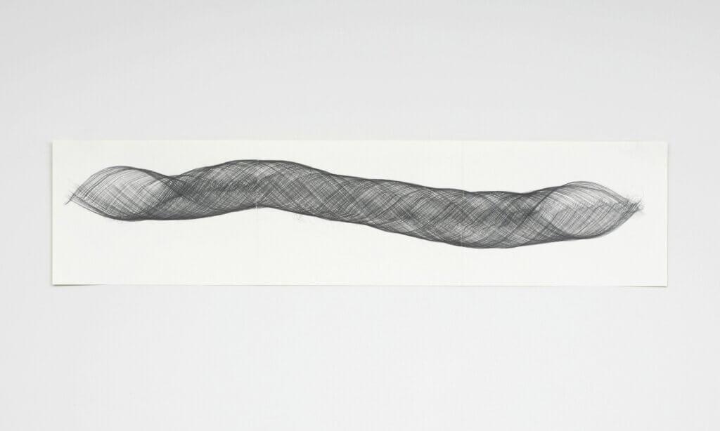 """""""Openend II"""", 2009, Bleistift auf Papier, 42 x 178.2 cm"""