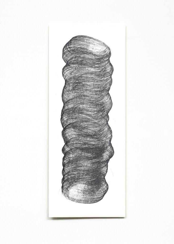 """Pillars"", 2006, Bleistift auf Papier, 50 x 20 cm, Blatt 2"
