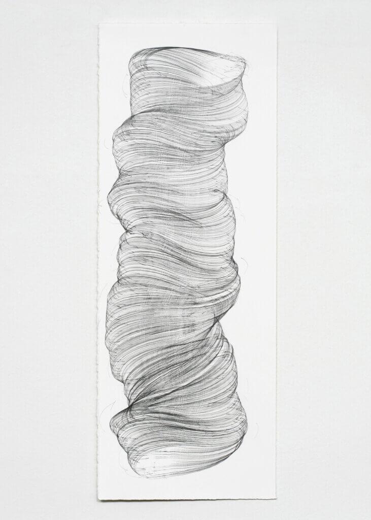 """""""Schwerelos"""", 2006, Bleistift auf Papier, 77 x 28.5 cm, Blatt 6"""