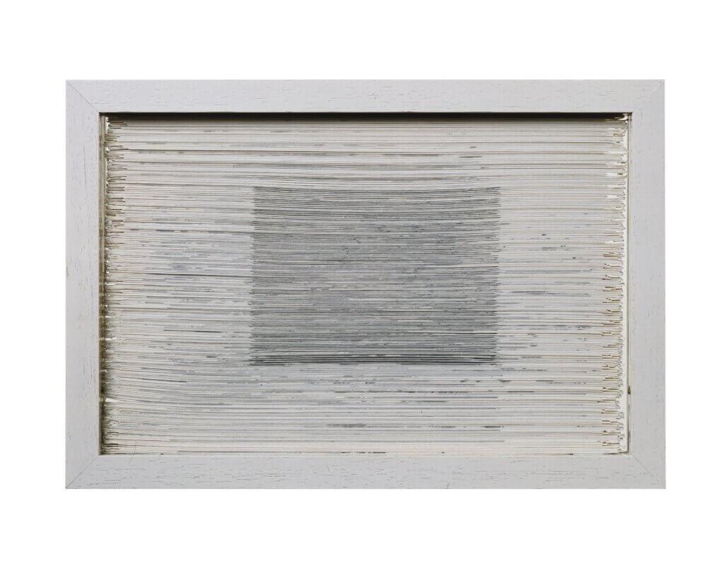 """Bildobjekt aus dem Projekt """"Umwandlung"""". Entstanden 1986, geschnitten 1993, 19.7 x 28.7 x 3 cm"""