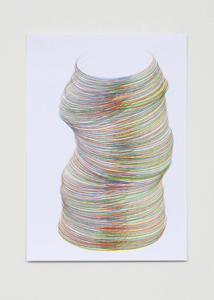 """""""Vielleicht II"""", 2007, Farbstift auf Papier, 7-teilig, 42 x 29.7 cm, Blatt 7"""