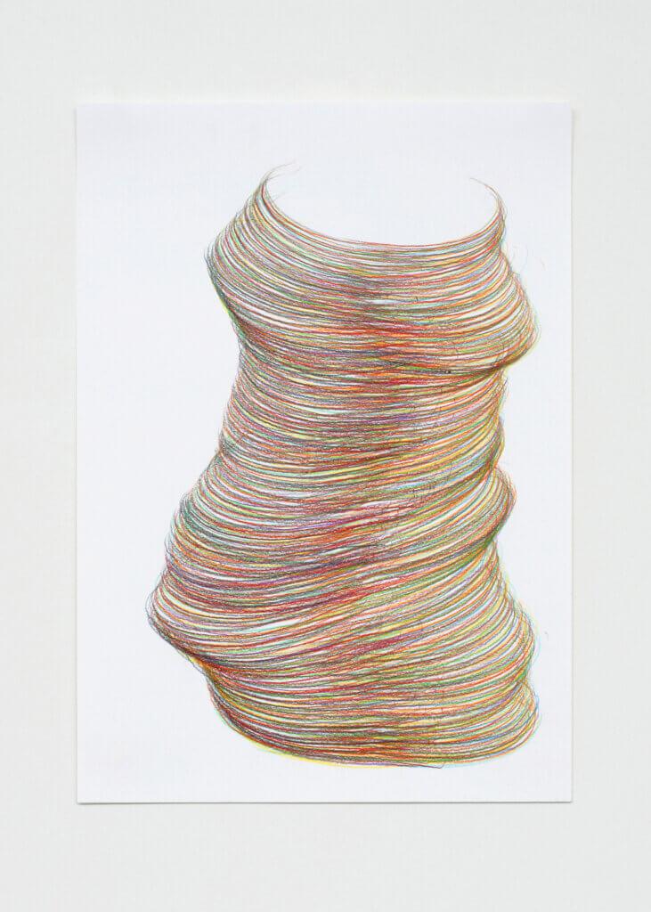 """""""Vielleicht I"""", 2006, Farbstift auf Papier, 7-teilig, 59.4 x 42 cm, Blatt 3"""