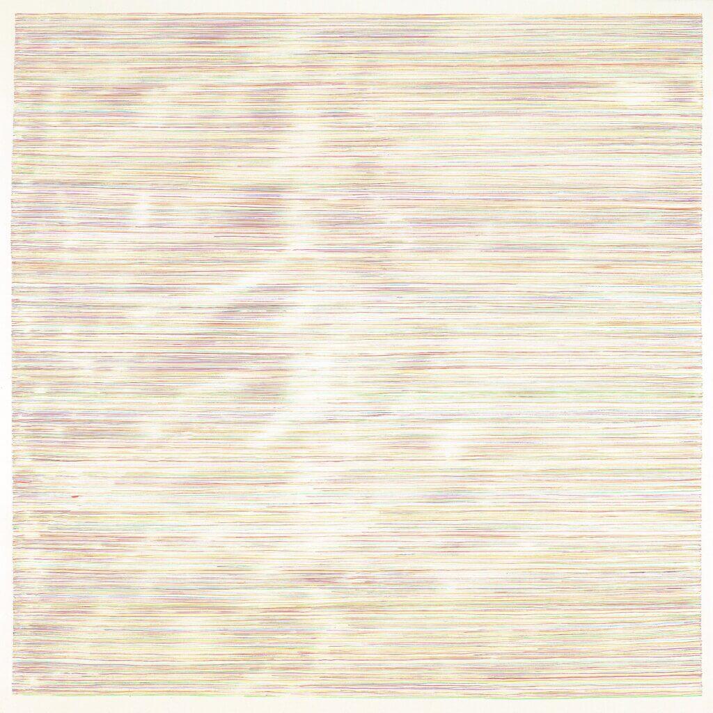 """""""Zeitzeichen I"""", 1992, Aquarell auf Papier, 100 x 100 cm"""